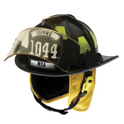 Cairns® 1044FDW Traditional Fire Helmet, Ratchet Suspension, NFPA 1971-2018