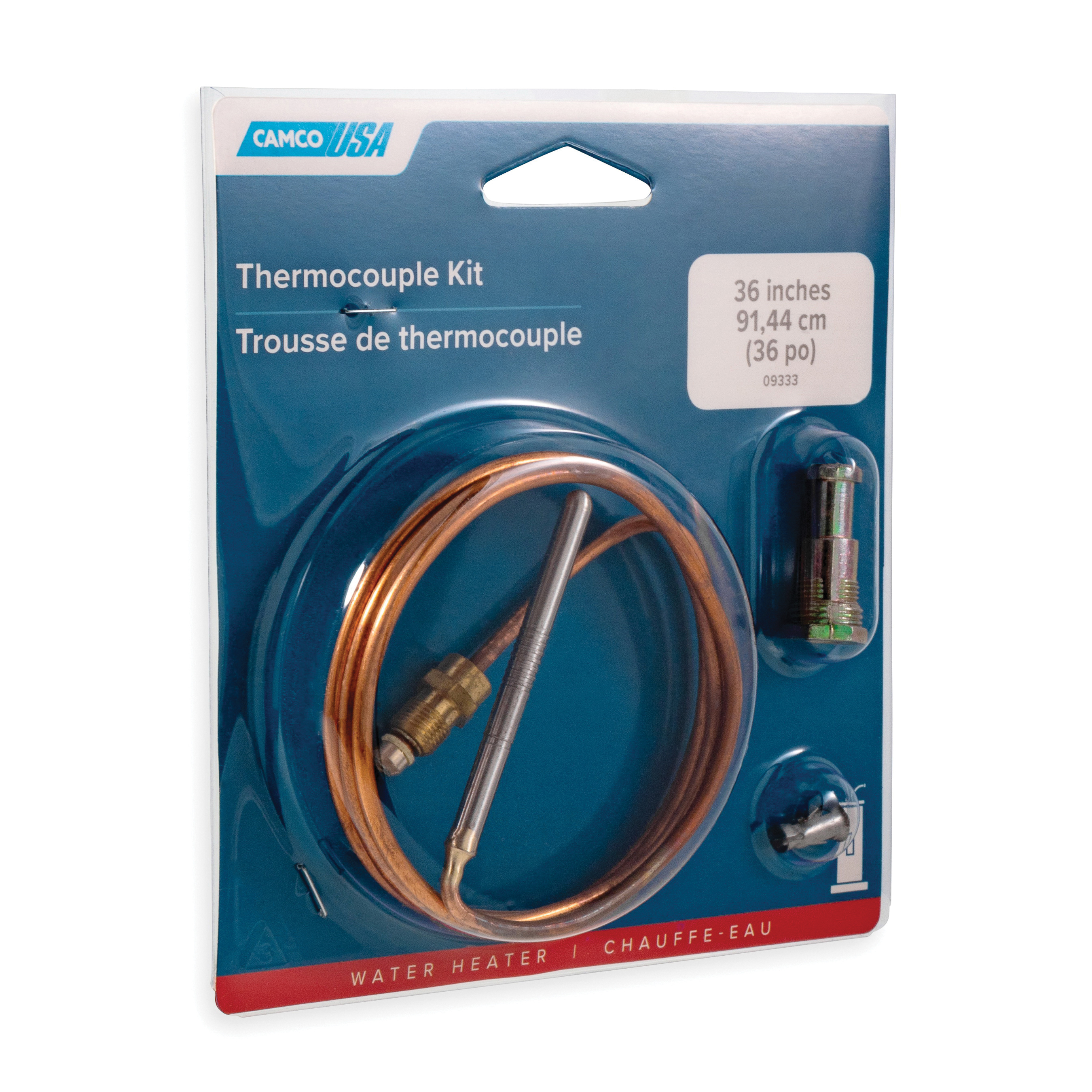 Camco 09333 Universal Thermocouple Kit, Copper Tubing, Import
