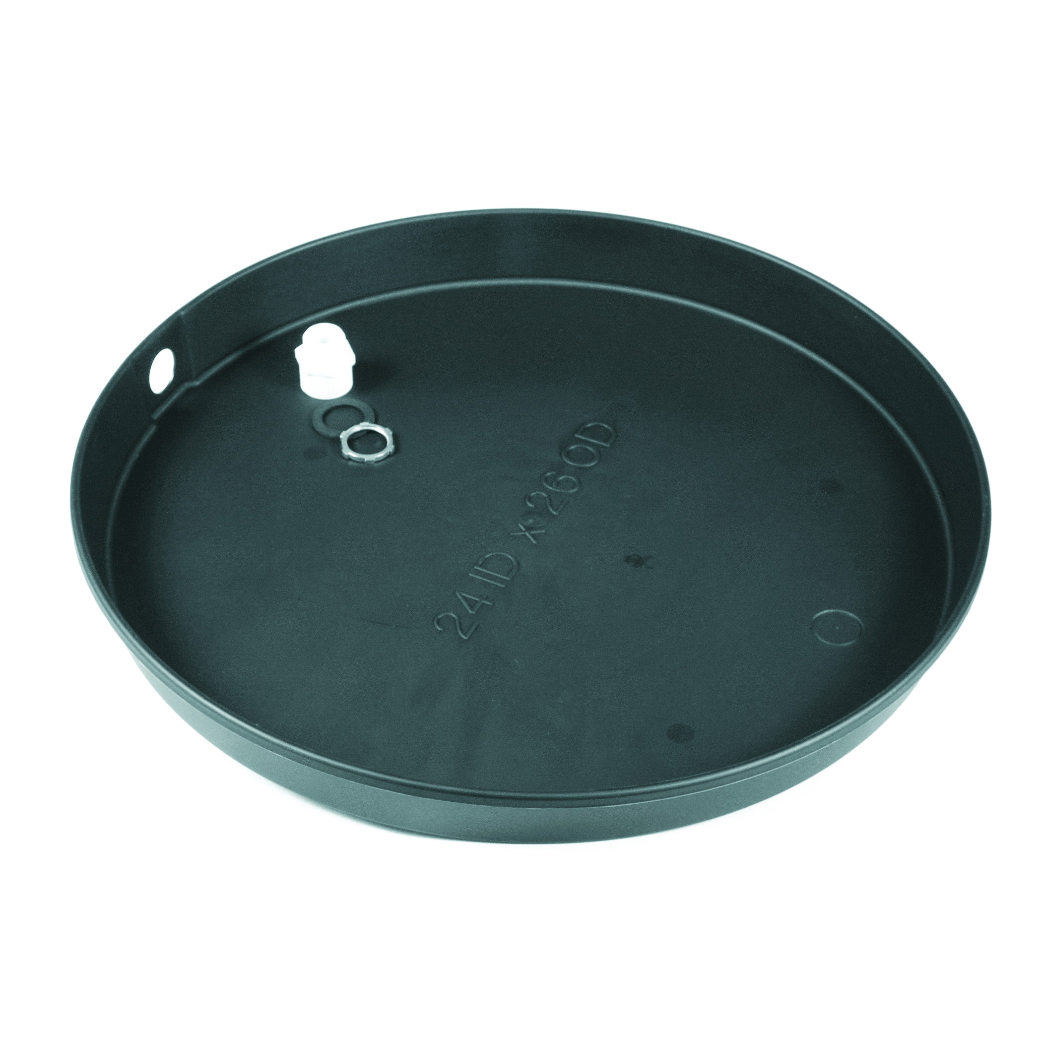 Camco 11360 Round Drain Pan, For Use With Electric Water Heater, Plastic, Domestic