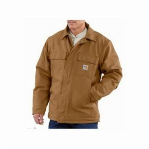 Carhartt® 101228-201-REG-XL Midweight Original Fit Solid Bankston Jacket, Dark Brown, Cotton Sandstone Duck/Polyester Quilted Flannel Lining, 46 to 48 in Chest