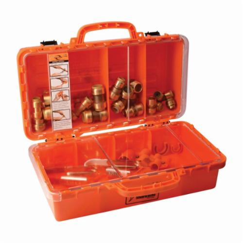 Sharkbite® 22486LF Contractor Kit, 200 psi, 0 to 200 deg F, 26 Pieces, DZR Brass Tube