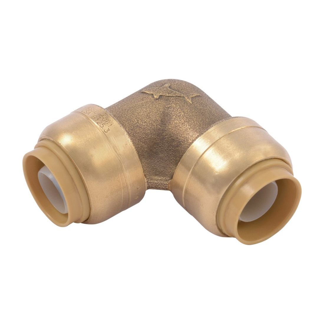 Sharkbite® U248LF Pipe Elbow, 1/2 in Nominal, Push-Fit End Style, Brass, Natural Brass/Chrome Plated, Import