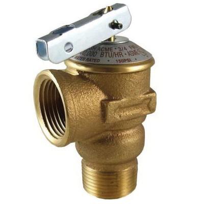 Cash Acme® 14737-0150 FWL-2 Pressure Relief Valve, 3/4 in Nominal, MNPT x FNPT End Style, 150 psi Pressure, Bronze Body, Domestic