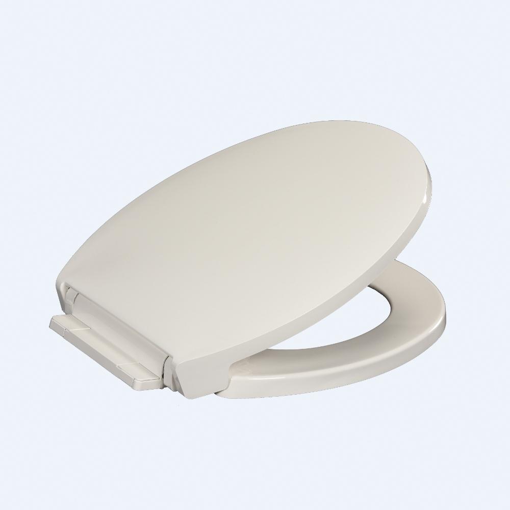 Centoco 1400SC-001 Luxury Heavy Duty Toilet Seat, Round Bowl, Closed Front, Polypropylene, White, Import