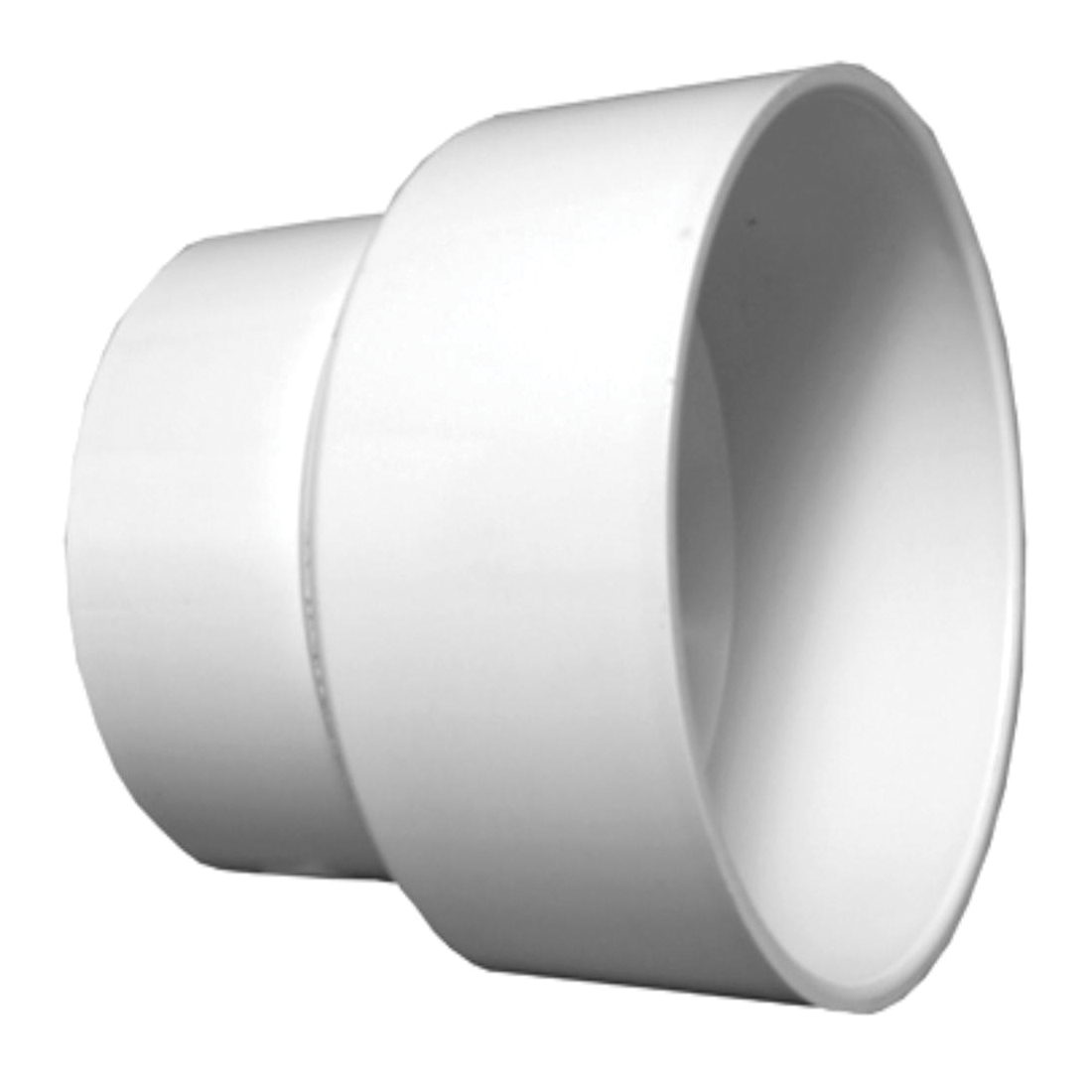 Charlotte PVC 00102 1800 Pipe Increaser/Reducer, 4 x 6 in Nominal, Hub End Style, SCH 40/STD, PVC, Domestic