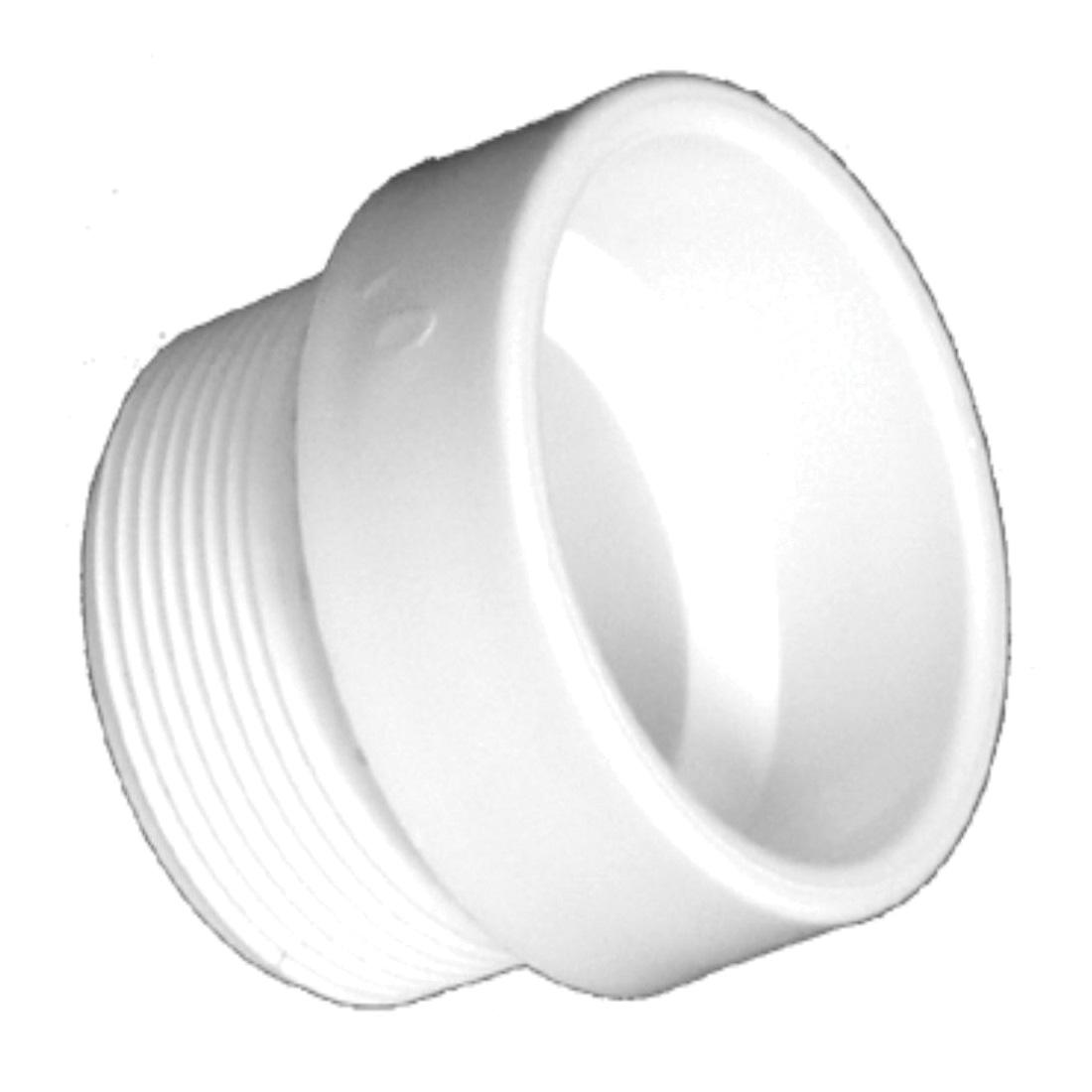 Charlotte PVC 00104 0800 DWV Female Trap Adapter, 1-1/2 in, Hub x Slip, SCH 40/STD, PVC, Domestic