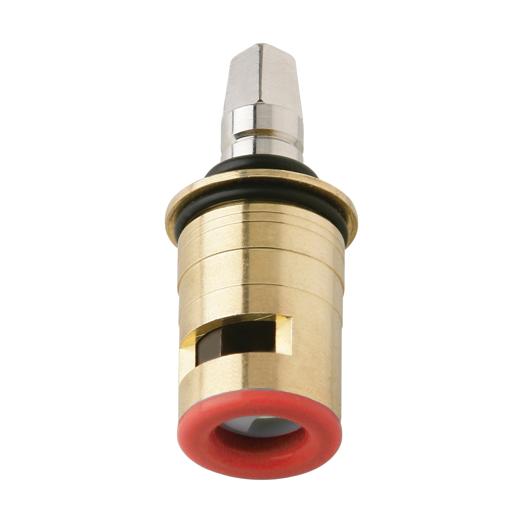 Chicago Faucet® 1-100XKBL12JKABNF Quaturn Operating Cartridge, For Use With Manual Faucet, Ceramic/Brass/Stainless Steel Filter, Domestic