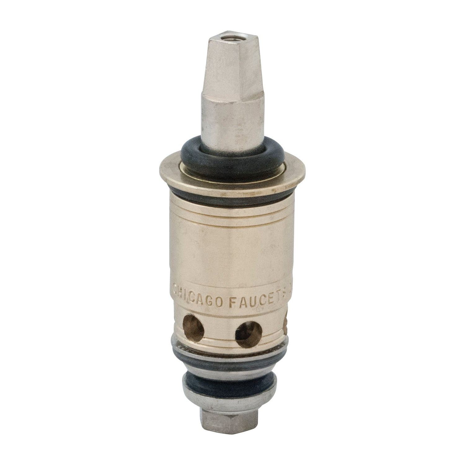 Chicago Faucet® Quaturn 1-100XTJKABNF Compression Operating Cartridge, 2-3/4 in H, Brass Filter, Domestic