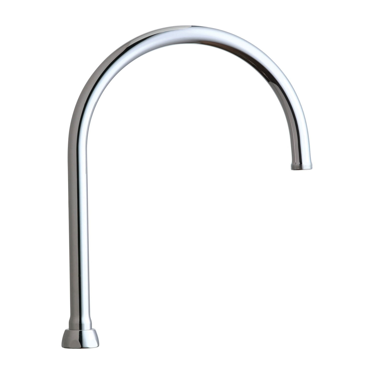Chicago Faucet® GN8AJKABCP Rigid/Swing Gooseneck Spout, For Use With Most Faucet, Brass, Polished Chrome, Import