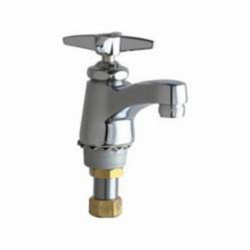 Chicago Faucet® 700-HOTABCP Single Supply Hot Water Sink Faucet, 2.2 gpm Flow Rate, Polished Chrome, 1 Handles, Domestic, Commercial