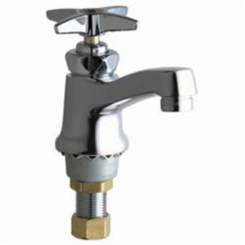 Chicago Faucet® 701-HOTABCP Single Supply Hot Water Sink Faucet, 2.2 gpm Flow Rate, Polished Chrome, 1 Handles, Domestic, Commercial