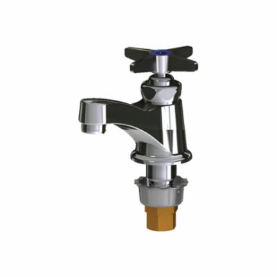 Chicago Faucet® 701-E70COLDABCP 700 Single Supply Lavatory Sink Faucet, 0.5 gpm, 1-1/2 in H Spout, 1 Faucet Holes, Polished Chrome, Function: Traditional