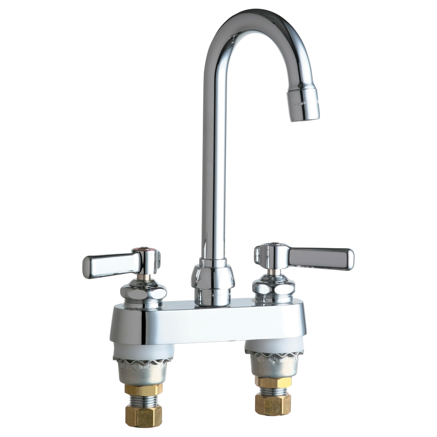 Chicago Faucet® 895-E35ABCP Lavatory Sink Faucet, Polished Chrome, 2 Handles, 1.5 gpm Flow Rate