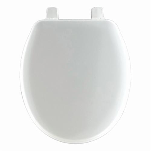 Church® BB540 000 Toilet Seat With Cover, Baby/Toddler Bowl, Closed Front, Molded Wood, White, Top-Tite® Hinge, Domestic