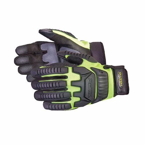 Clutch Gear® MXVSB/M Anti-Impact Gloves, M, TPR/Kevlar®, Slip-On Cuff