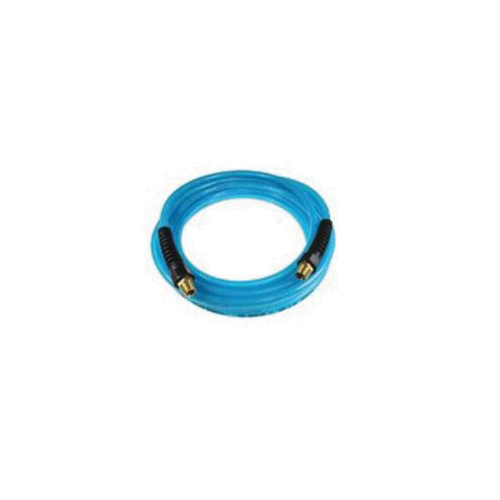 Coilhose® H38100N General Purpose Straight Air Hose, 3/8 in, 3/8 in MPT Rigid, 100 ft L, 200 psi at 70 deg F, Rubber, Domestic