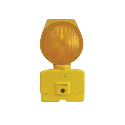 Cortina® 03-10-3WAY6V Barricade Light, Yellow/Amber, 7 in Dia Head, Polyethylene Housing, Fresnel Glass Lens, 6 V with Photocell, Bolt Mount