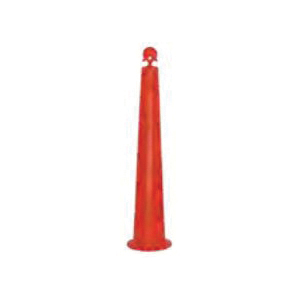 Cortina® 03-770-42-64OW Stacker Round Top Channelizer Cone, 8 in Dia Orange HDPE Post, 2 Stripes