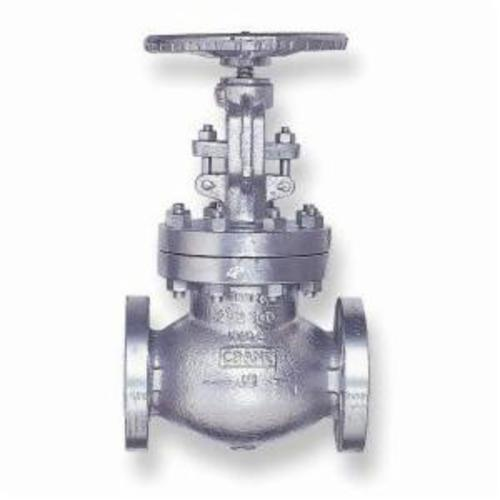 CRANE® 143XU-4 Globe Valve, 4 in Nominal, Flanged End Style, 150 lb, Cast Steel Body, Hand Wheel Actuator