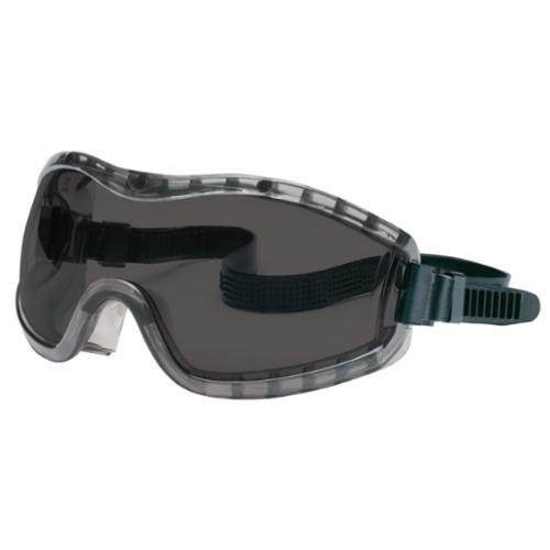 Crews 2310AF Stryker™ Premium Indirect Vented Scratch Resistant Regular Fit Chemical Splash Goggles, Duramass® Anti-Fog Clear Polycarbonate Lens, 99.9% % UV Protection, Rubber Strap, Specifications Met: ANSI Z87.1, CSA Z94.3