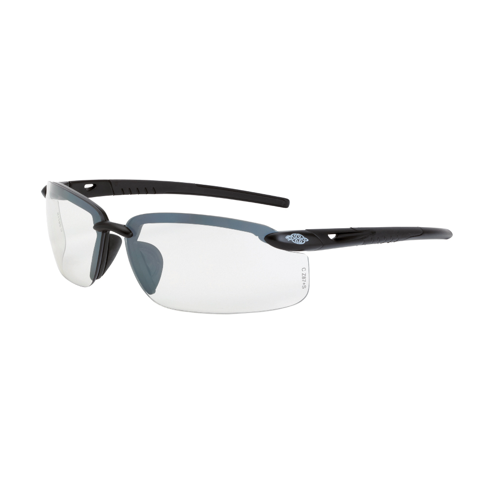 CrossFire® 2941425 ES5 Bi-Focal Lens Safety Eyewear, Hard Coated, Polarized Smoke Lens, Frameless Frame, Crystal Black, TR90 Frame, Polycarbonate Lens, ANSI Z87.1