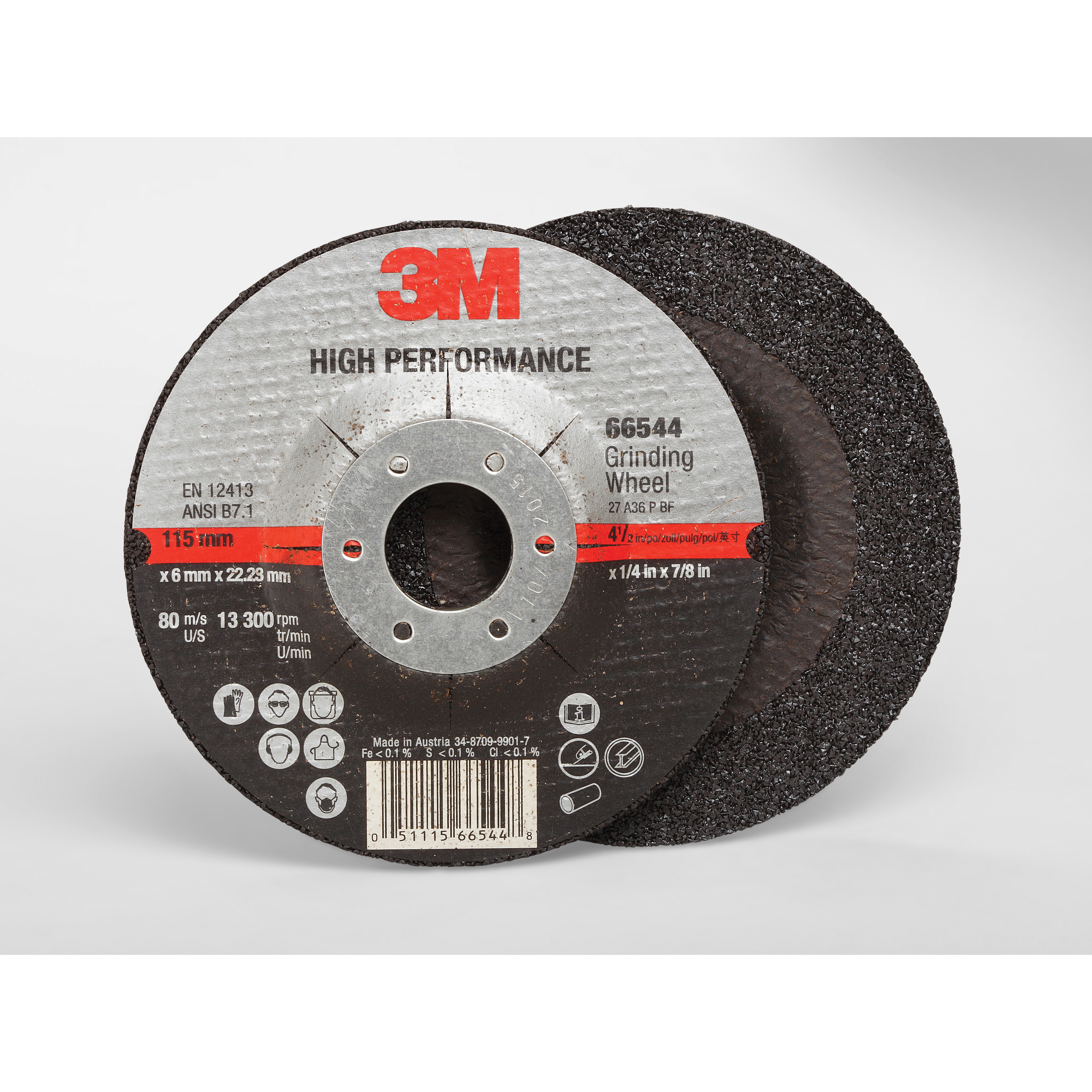 Cubitron™ II 051115-66537 COW Type 27 Cut-Off Wheel, 5 in Dia x 0.045 in THK, 7/8 in Center Hole, 60 Grit, Precision Shaped Ceramic Abrasive