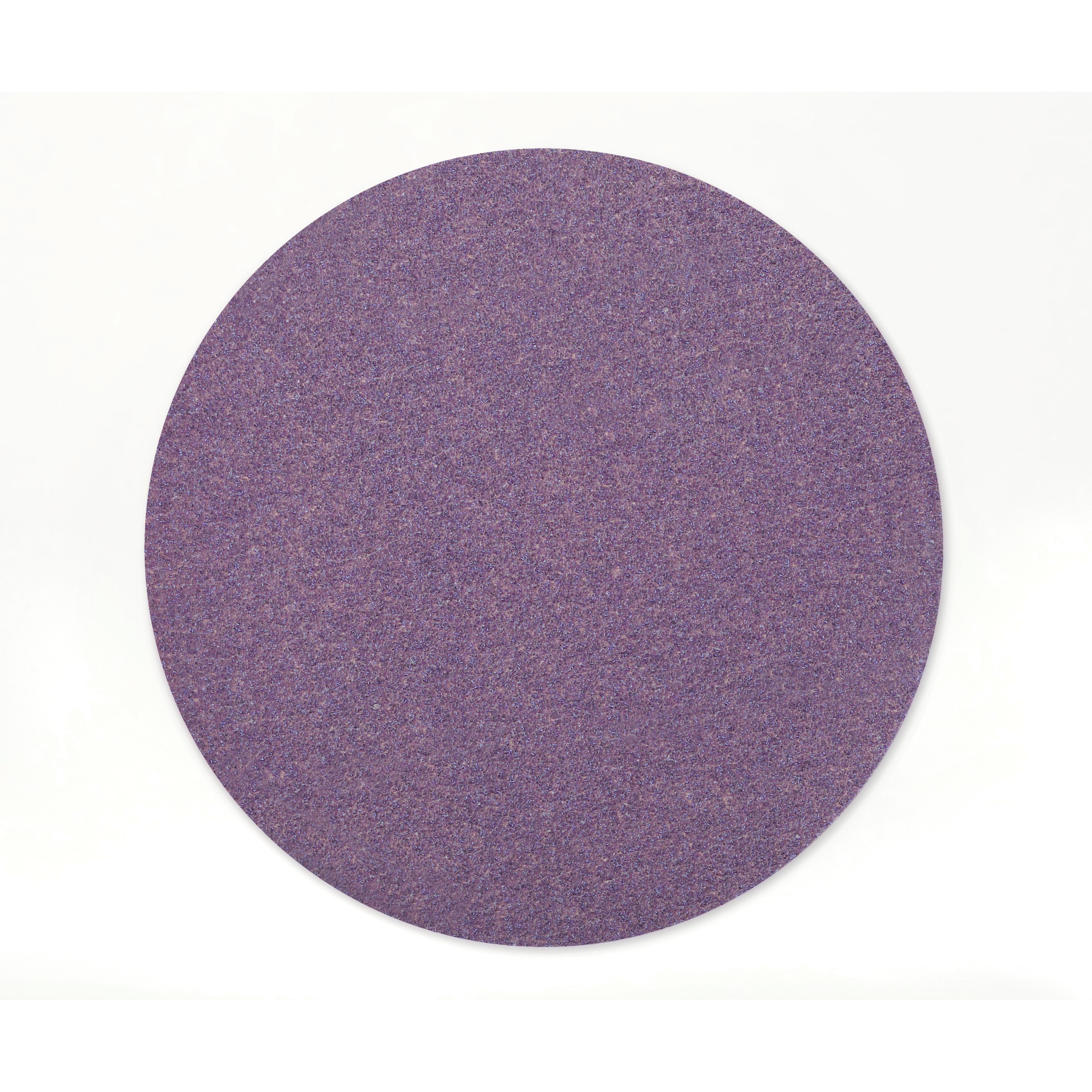 Cubitron™ II 051125-86828 732U Linered Open Coated PSA Mounted Point, 6 in Dia Disc, 80+ Grit, Ceramic Alumina Abrasive, Paper Backing