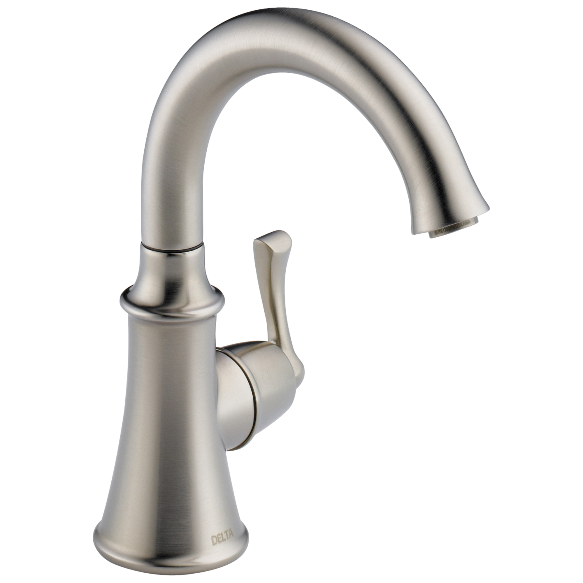 DELTA® 1914-SS-DST Traditional Beverage Faucet, 1.5 gpm Flow Rate, Stainless Steel, 1 Handles, Domestic