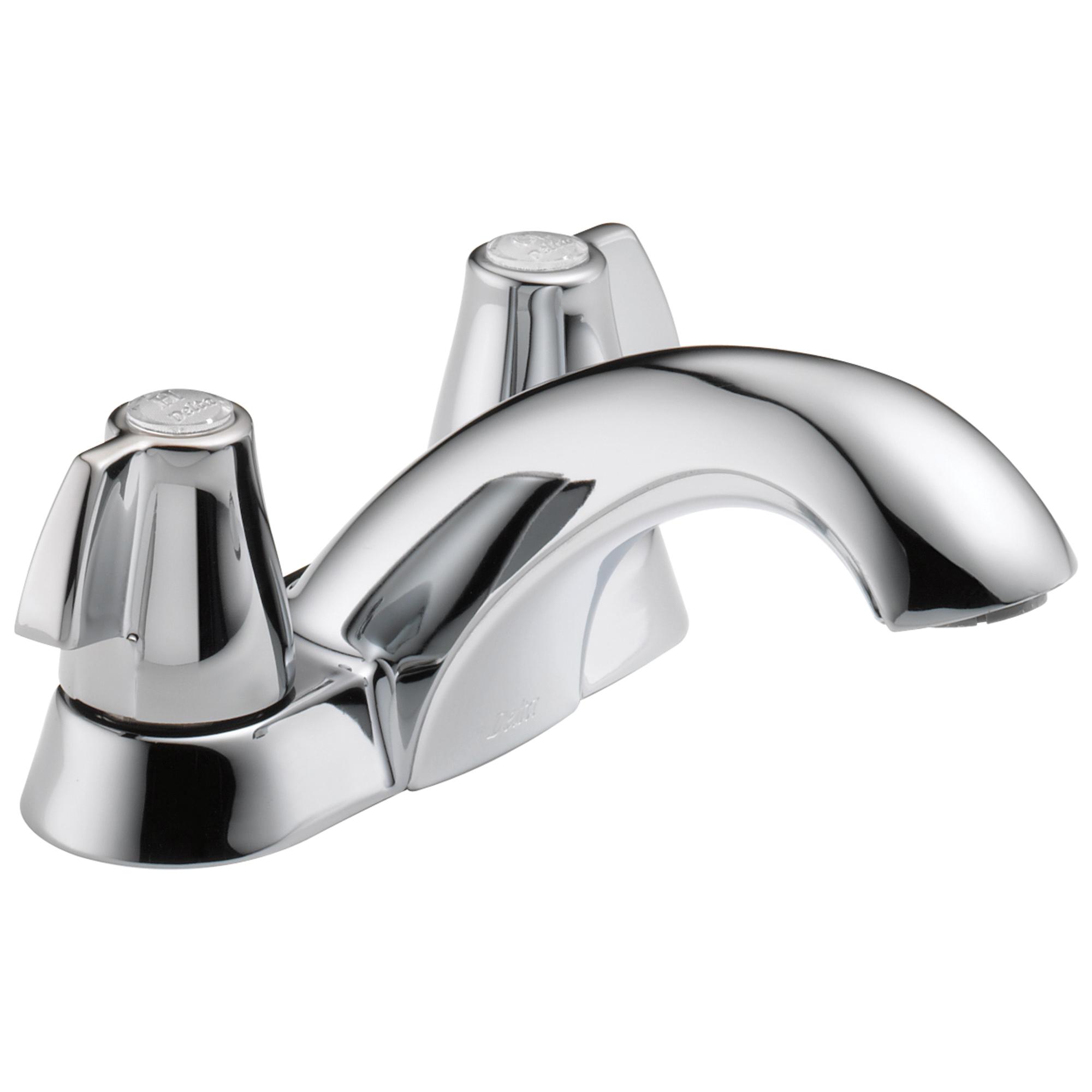 DELTA® 2510LF Classic Centerset Lavatory Faucet, Polished Chrome, 2 Handles, 1.2 gpm Flow Rate