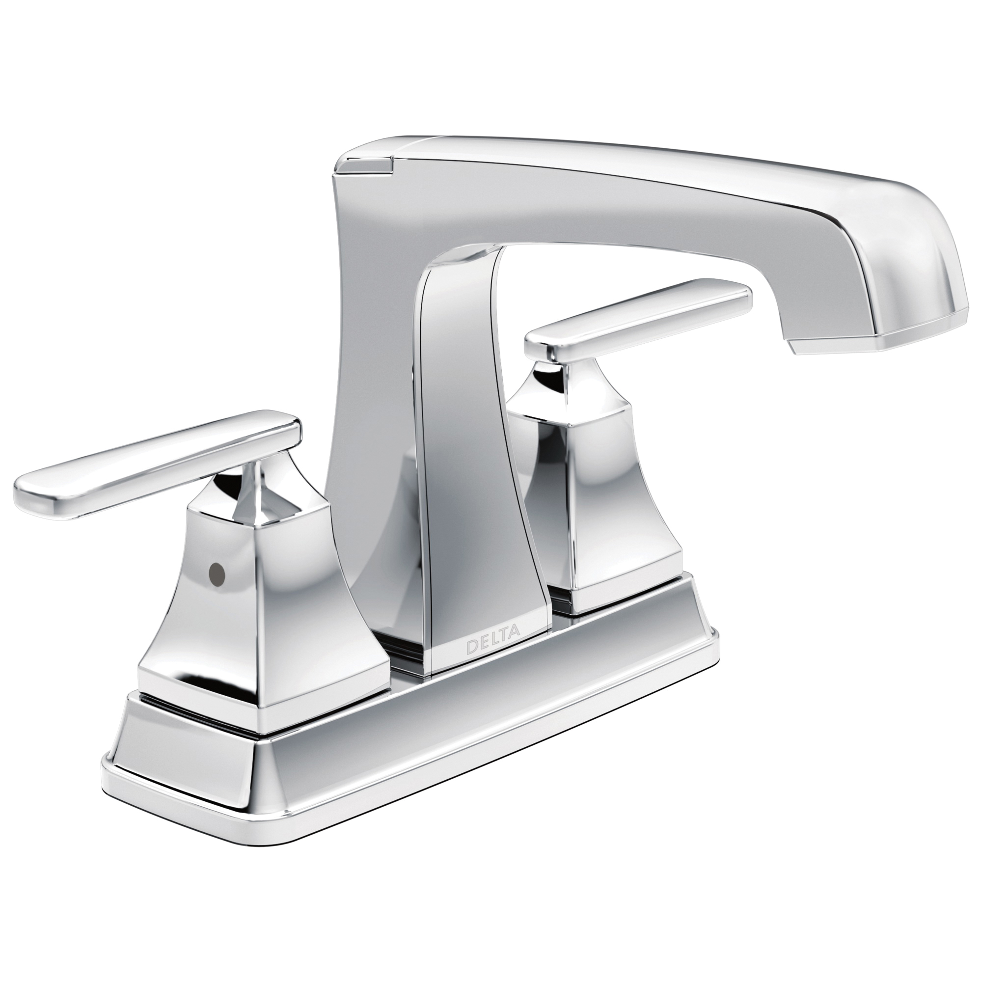 DELTA® 2564-TP-DST Tract-Pack™ Ashlyn® Centerset Lavatory Faucet, Polished Chrome, 2 Handles, 50/50 Pop-Up Drain, 1.2 gpm Flow Rate