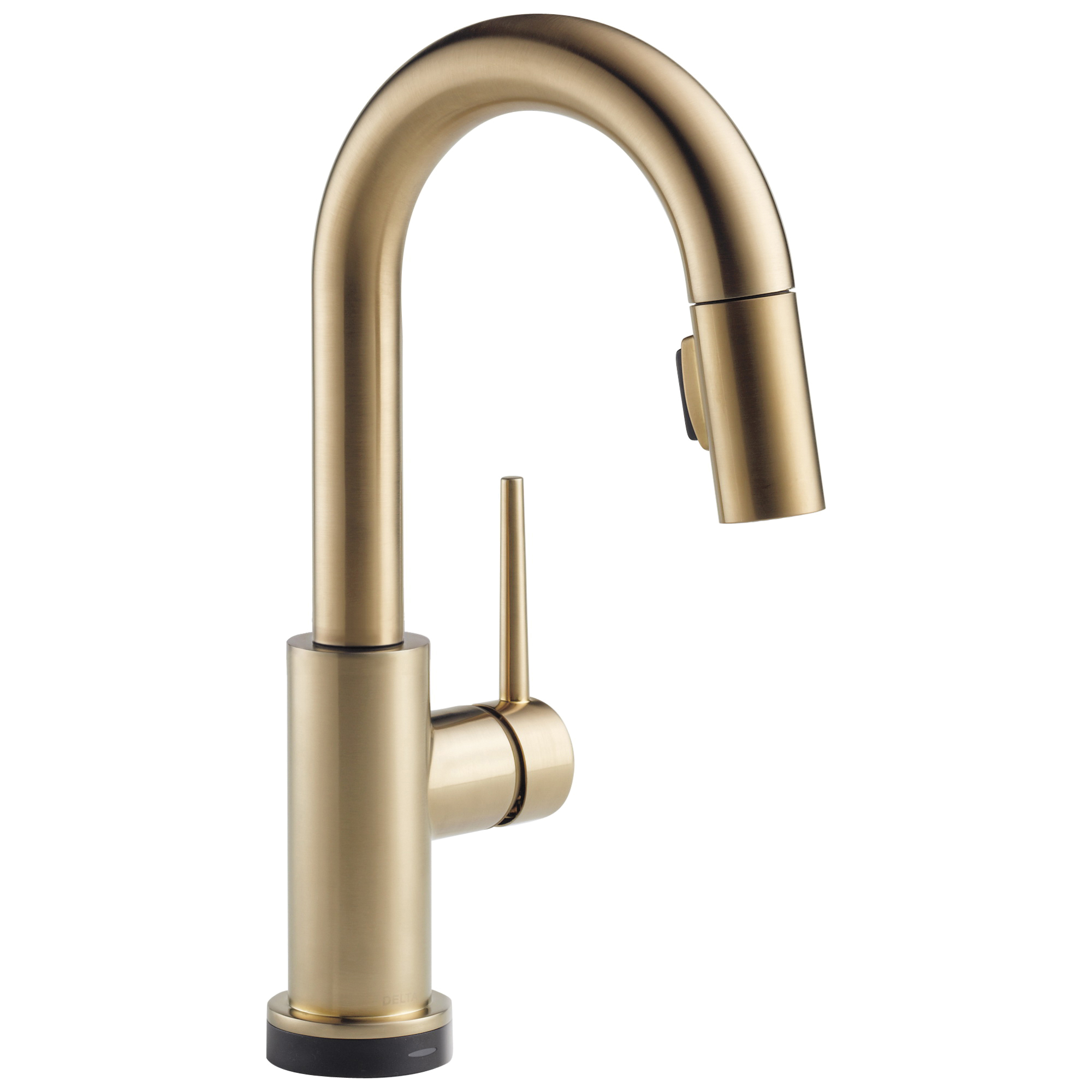 DELTA® 9959T-CZ-DST Touch2O® Pull-Down Bar/Prep Faucet, Trinsic®, Brilliance® Champagne Bronze, 1 Handle, 8 in Center, 1.8 gpm