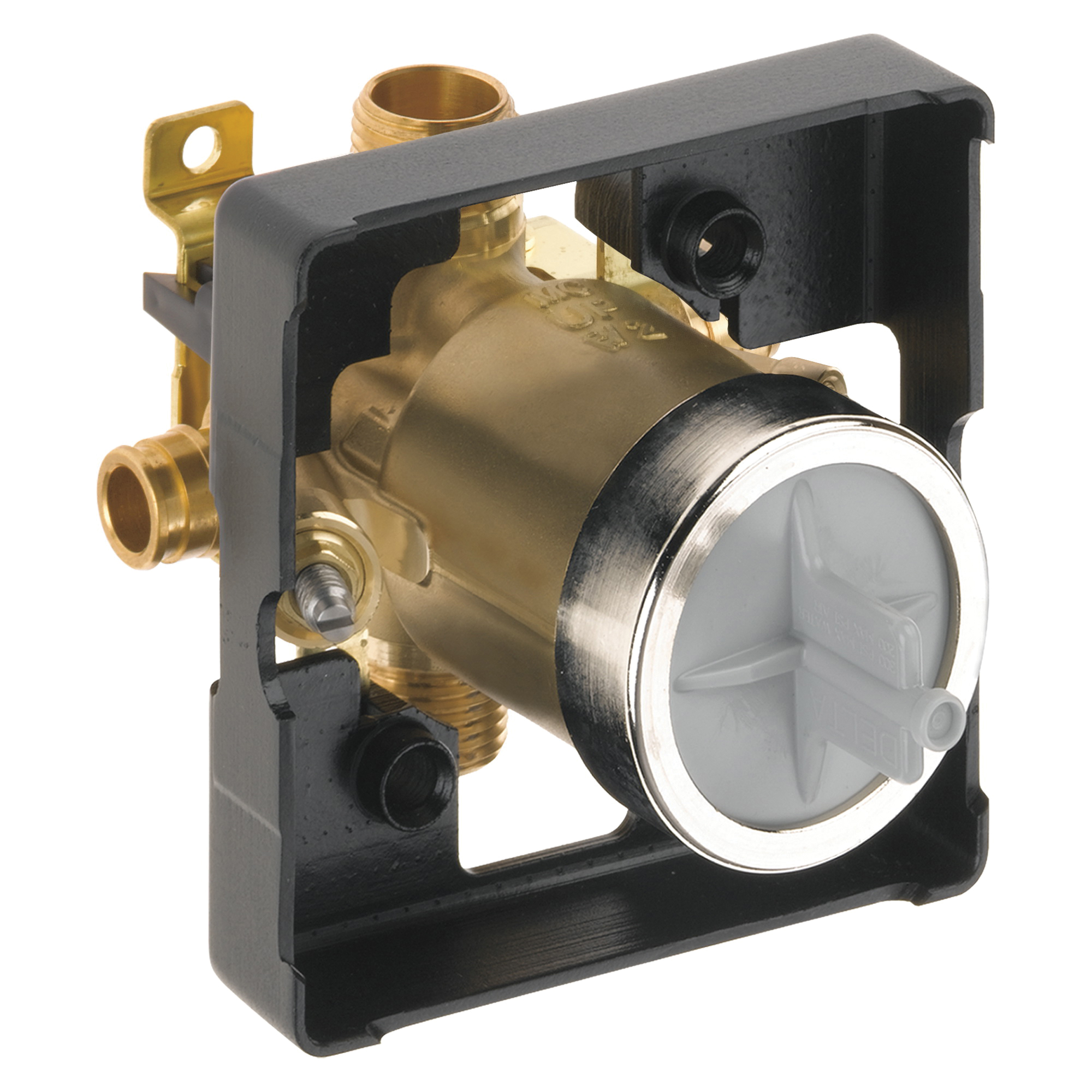 DELTA® R10000-MFWS MultiChoice® Universal Tub and Shower Rough-In Valve Body, 1/2 in Cold Expansion PEX Inlet x 1/2 in Pex Cold Expansion Outlet, Forged Brass Body, Domestic
