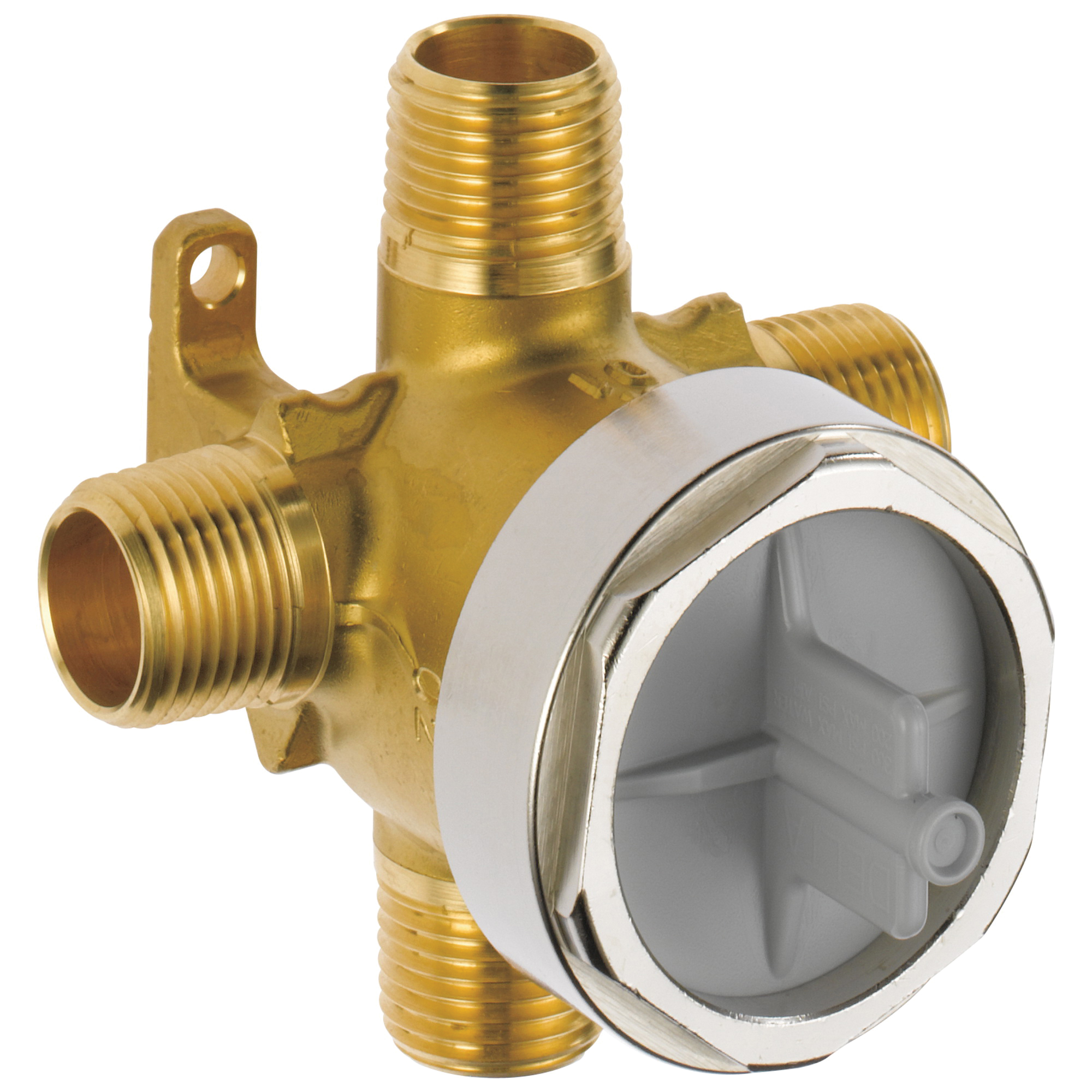 DELTA® R11000 3-Port Rough-In Valve Body, 200 psi, Forged Brass Body, Domestic