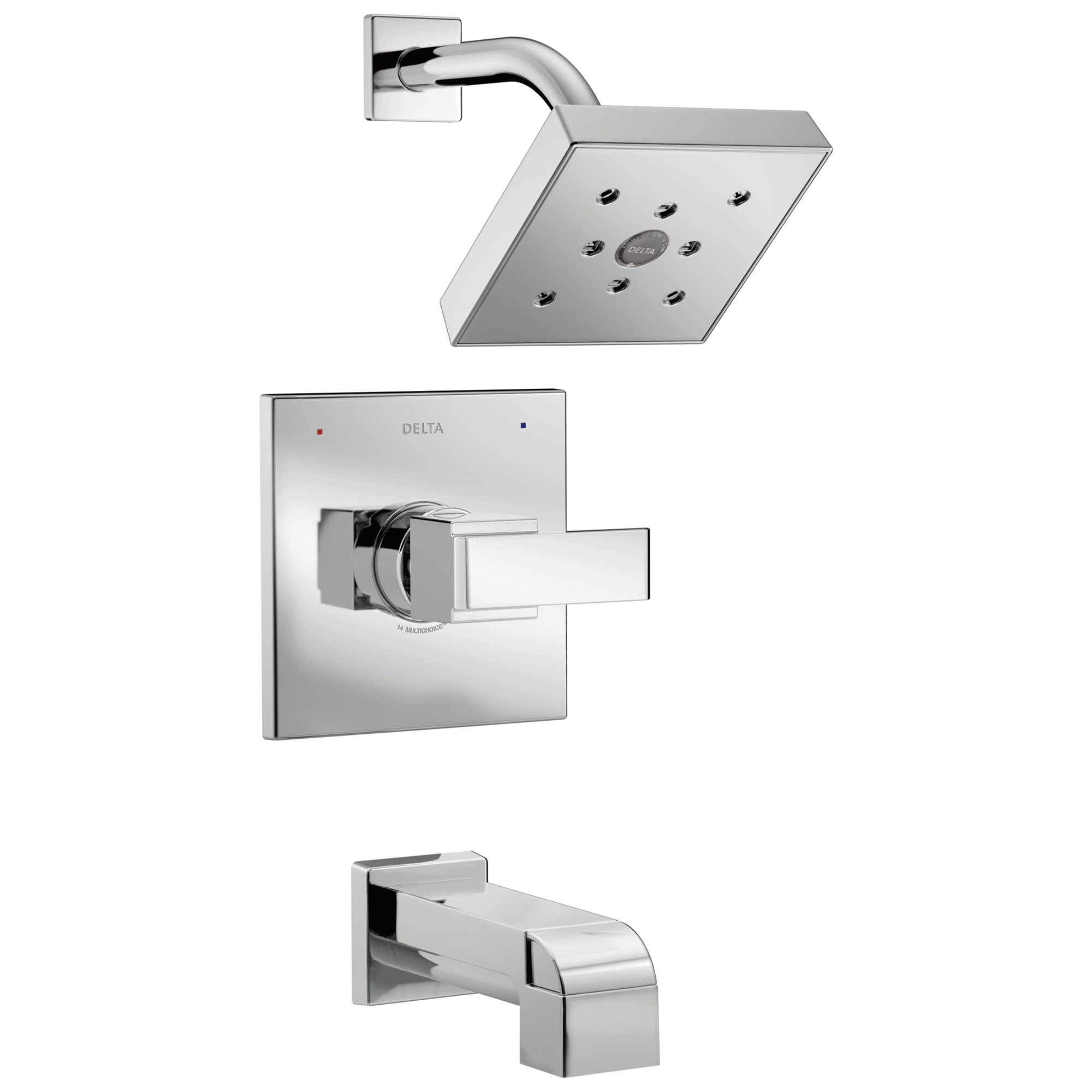 DELTA® T14467 Monitor® 14 Tub and Shower Trim, 1.75 gpm Shower, Polished Chrome