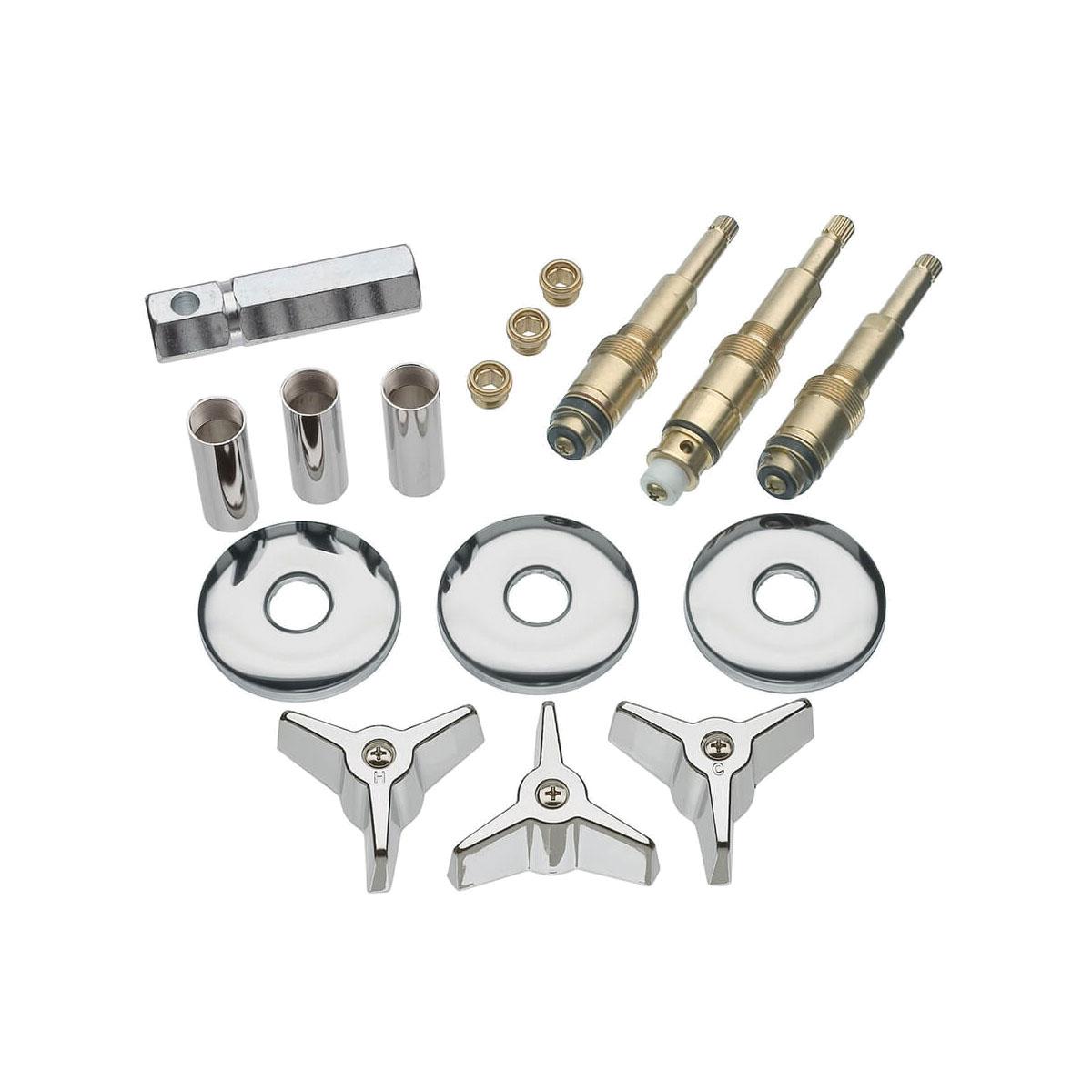 DANCO™ 39614 Tub/Shower 3-Handle Remodeling Kit, Brass, Polished Chrome