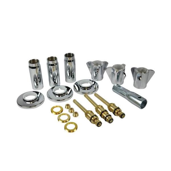 DANCO™ 39620 Tub/Shower 3-Handle Remodeling Trim Kit, Brass, Polished Chrome