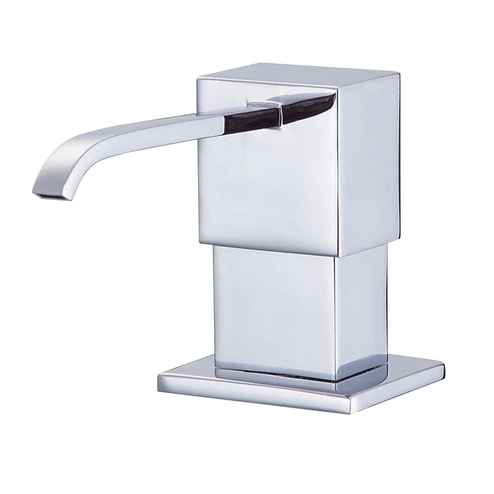 Danze® D495944 Sirius® Soap and Lotion Dispenser, Deck Mount, Solid Brass, Polished Chrome