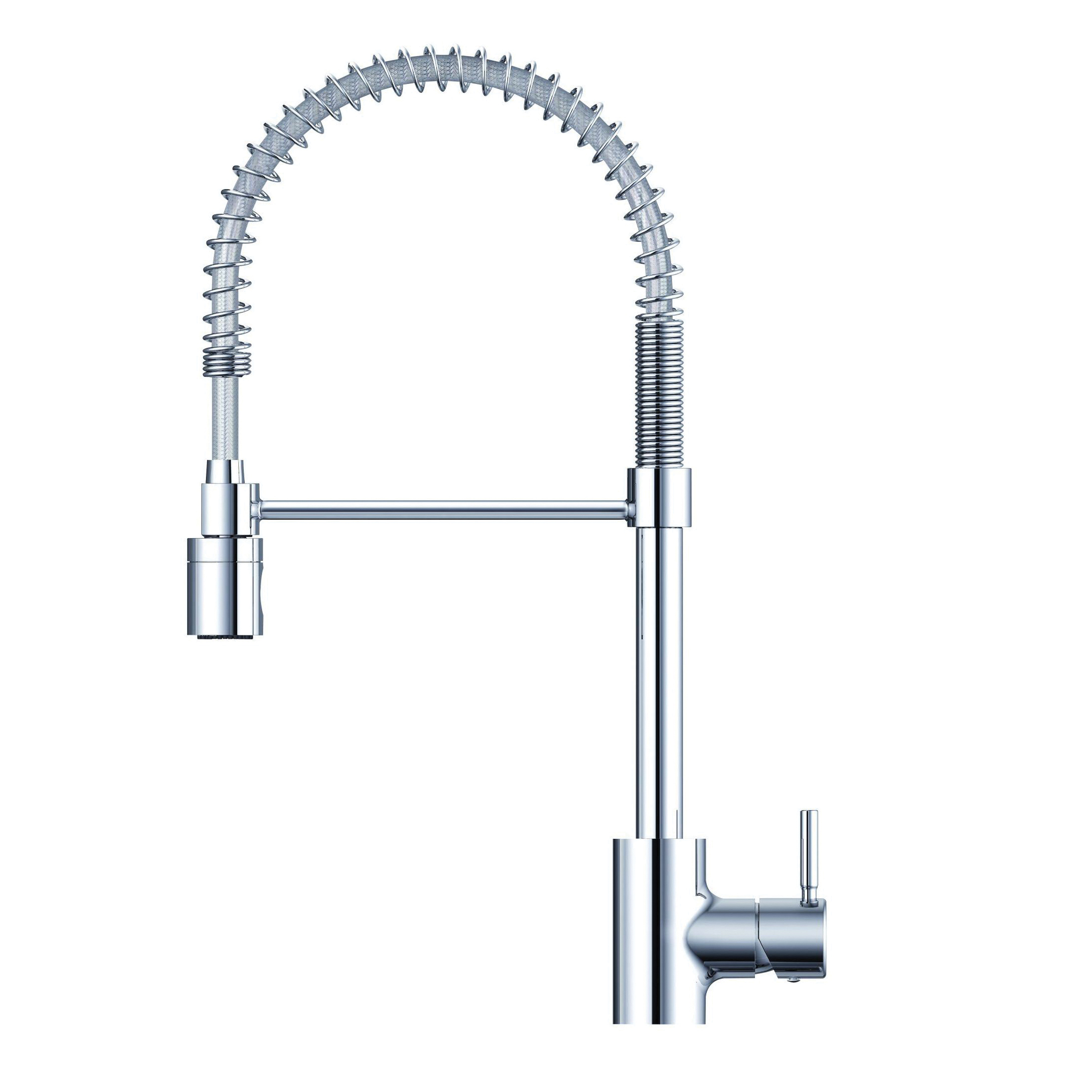 Danze® DH451188 The Foodie® Pull-Down Pre-Rinse Kitchen Faucet, 1.75 gpm Flow Rate, 360 deg Spring Swivel Spout, Import