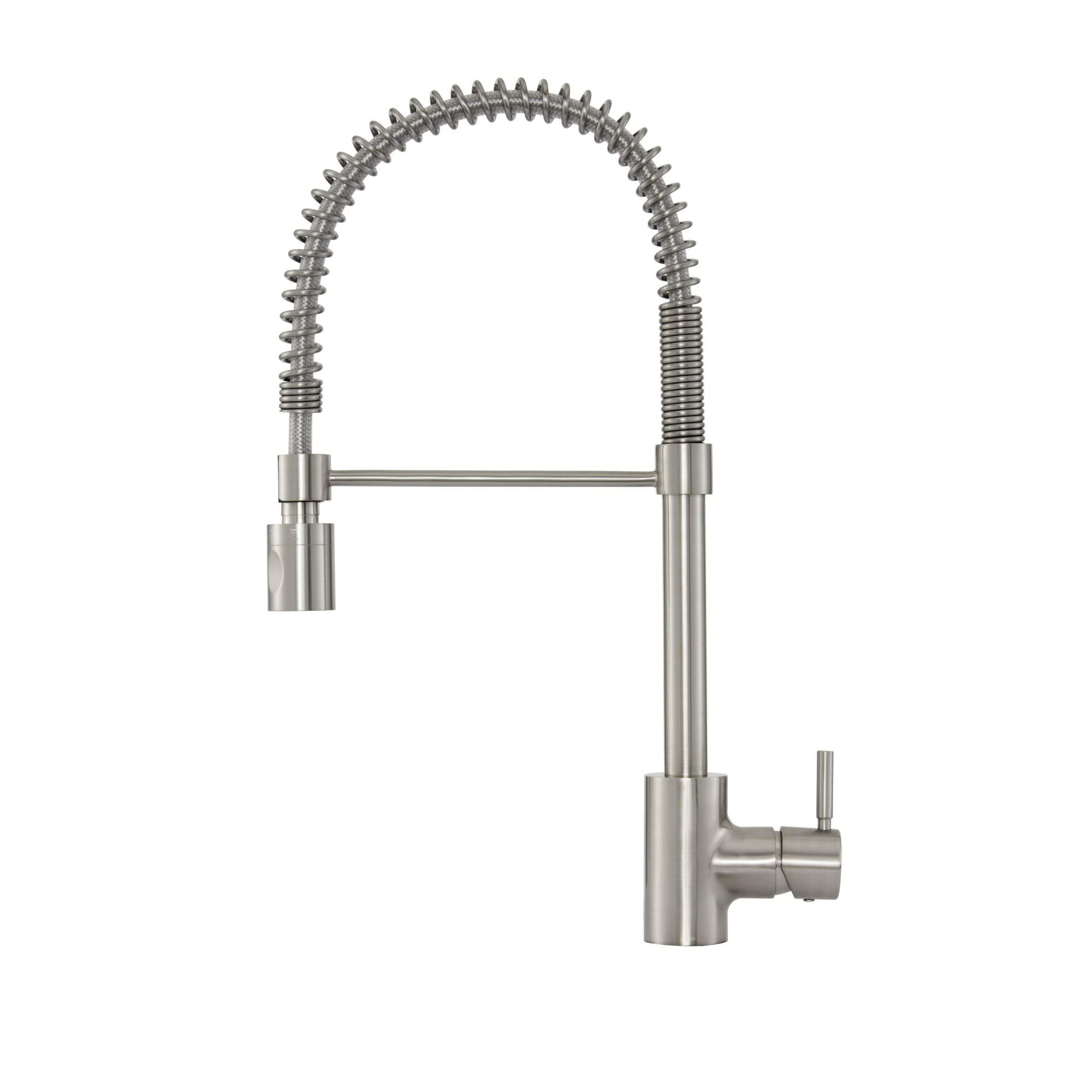Danze® DH451188SS The Foodie® Pull-Down Pre-Rinse Kitchen Faucet, 1.75 gpm Flow Rate, 360 deg Spring Swivel Spout, Import