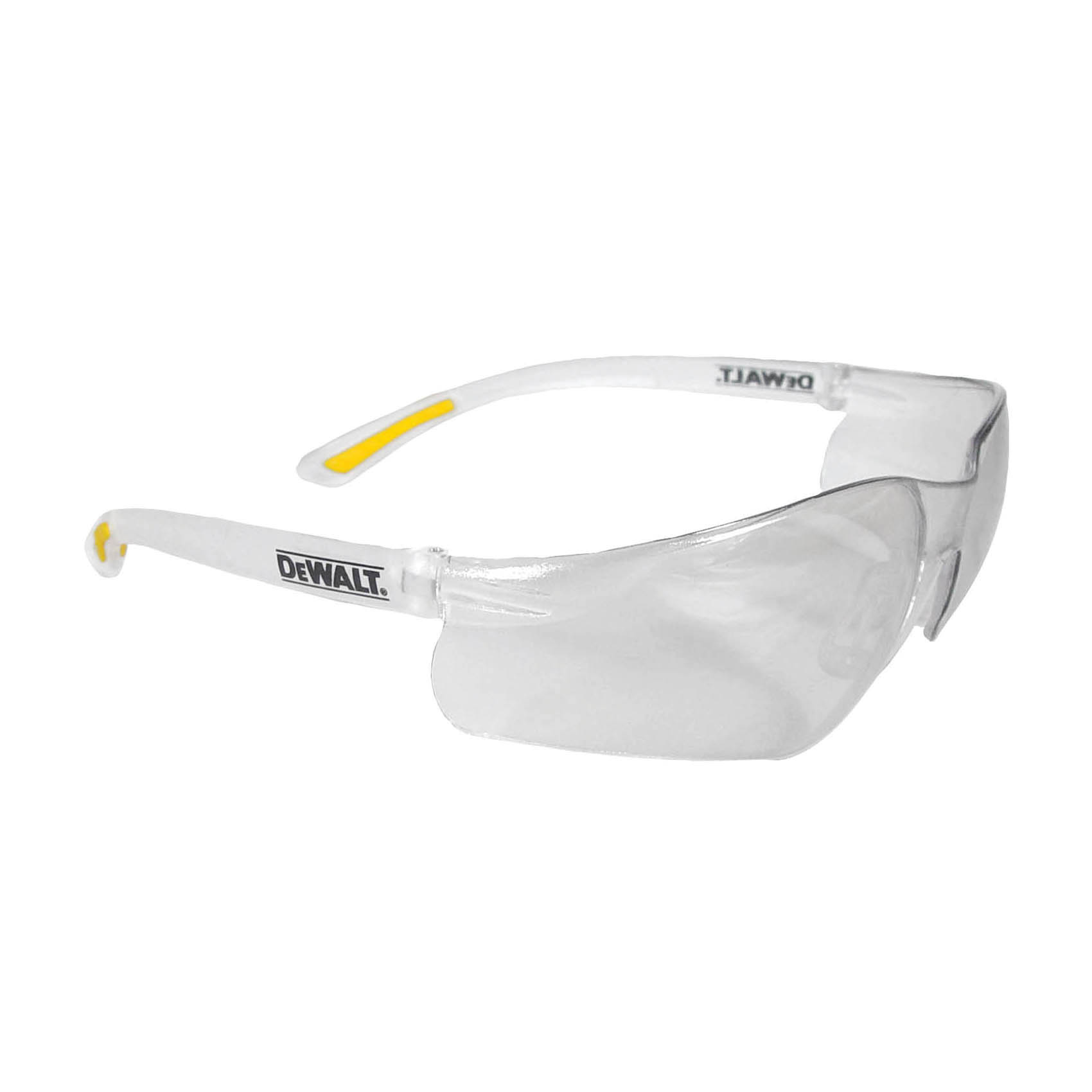 DeWALT® by Radians® DPG51-2D Radius™ DPG51 Safety Glasses, Hard Coat/Impact Resistant, Smoke Lens, Half Framed Frame, Black, Nylon Frame, Polycarbonate Lens, ANSI Z87.1+