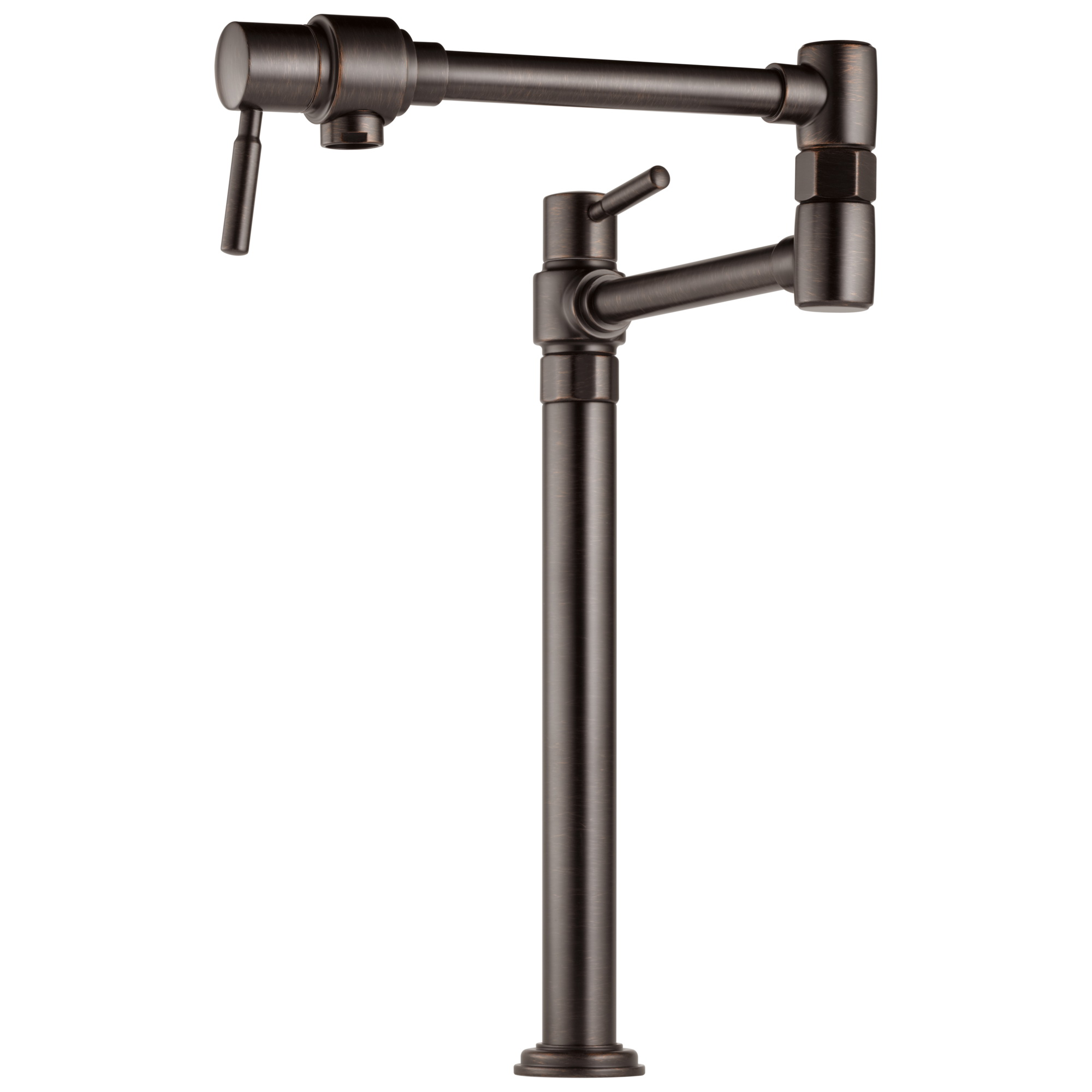 Brizo® 62720LF-RB Euro Pot Filler Faucet, 4 gpm Flow Rate, Swivel Spout, Venetian Bronze, 2 Handles, Import