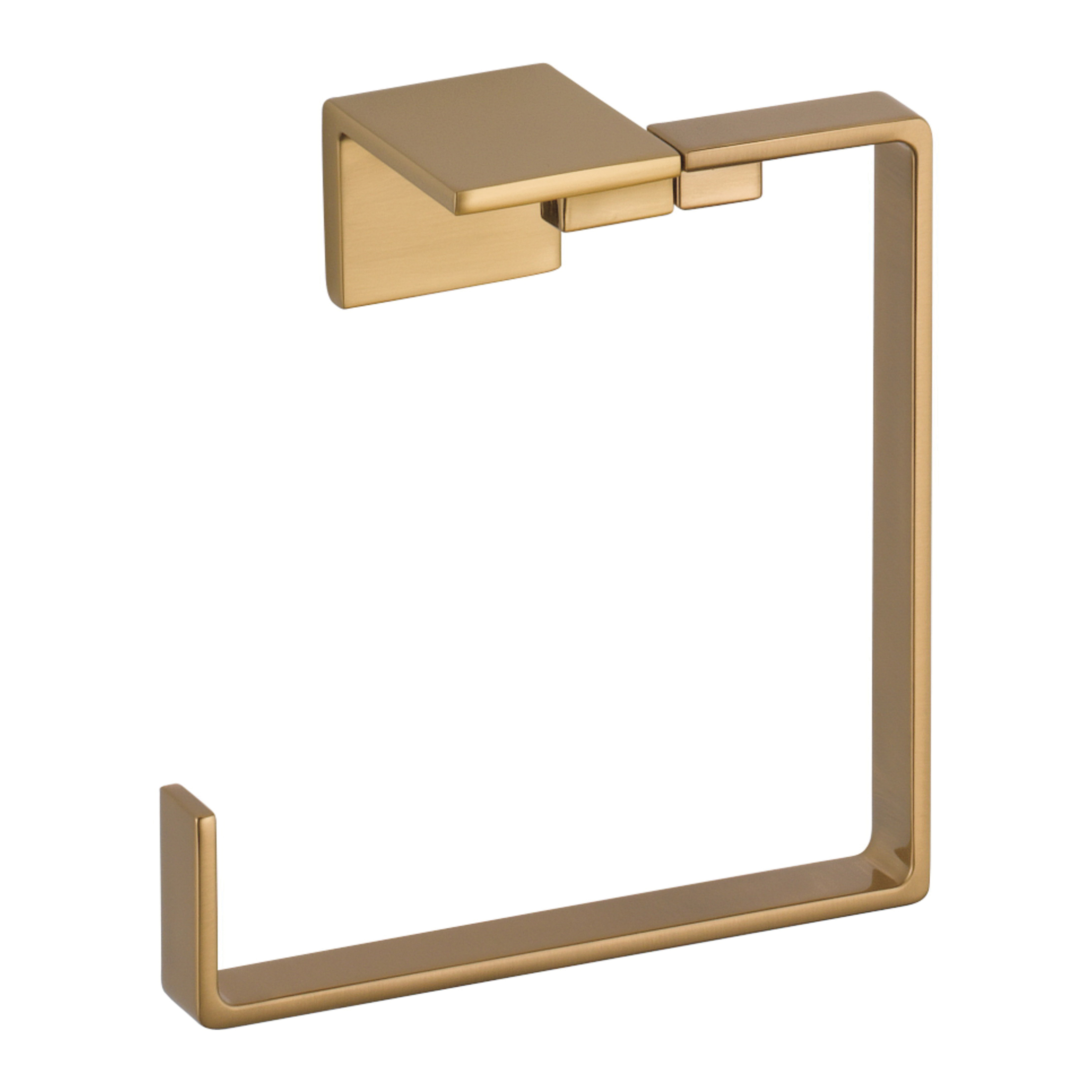 DELTA® 77746-CZ Vero® Towel Ring, 3 in OAD x 6-1/2 in OAH, Brilliance® Champagne Bronze, Import