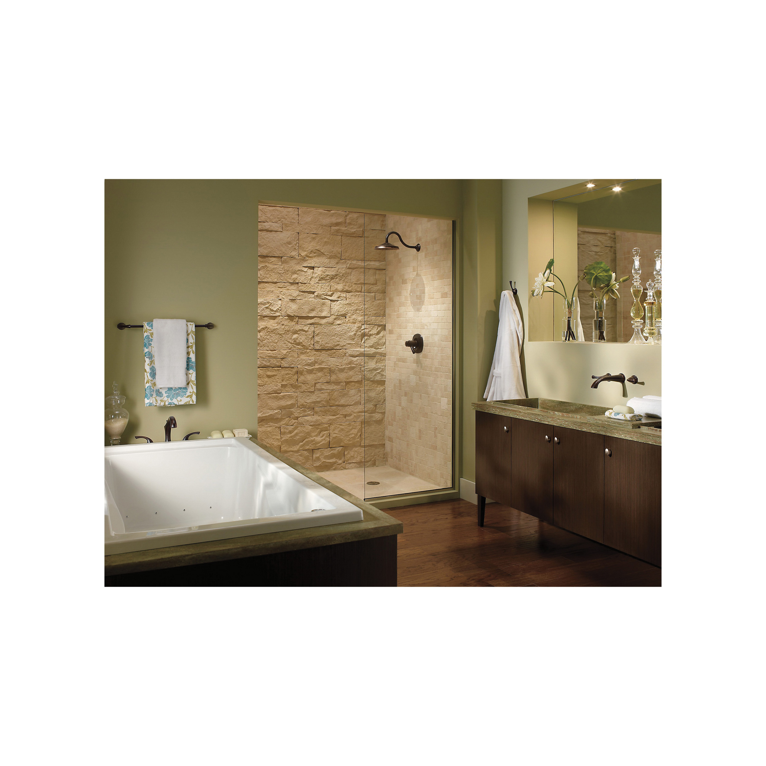 DELTA® T2792-RB Roman Tub Trim, Addison™, 18 gpm Flow Rate, 8 to 16 in Center, Venetian Bronze, 2 Handles, Function: Traditional, Import