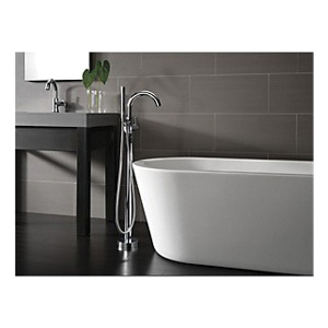 DELTA® T4759-FL Contemporary Tub Filler Trim, Trinsic®/Compel®, 1.75 gpm Flow Rate, Polished Chrome, 1 Handles, Domestic, Commercial