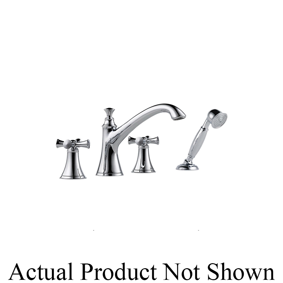 Brizo® T67405-PCLHP Roman Tub Trim, Baliza®, 18.5 gpm Flow Rate, 10 to 16 in Center, Polished Chrome, 2 Handles, Function: Traditional, Domestic