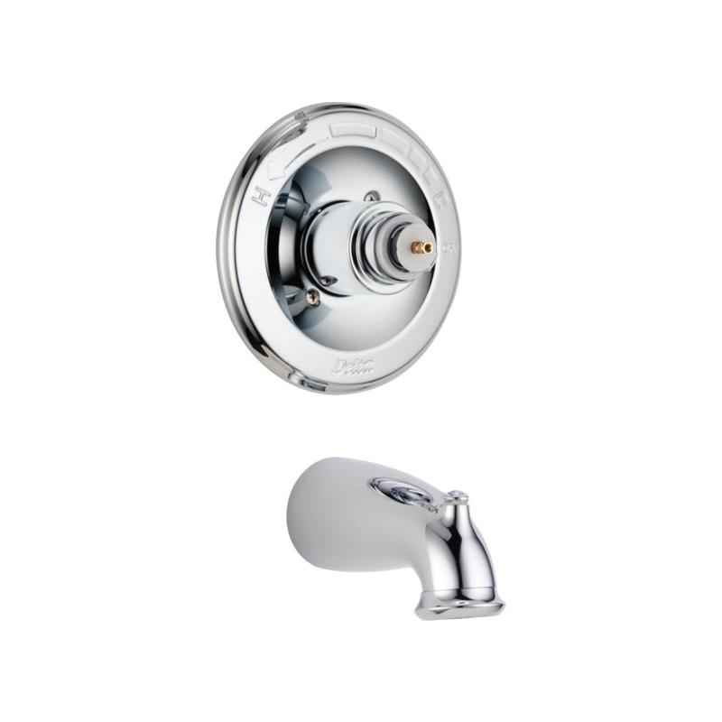 DELTA® T14178-LHP Monitor® 14 1-Function Wall Mount Tub Trim, Leland®, 7 gpm, Polished Chrome, Domestic