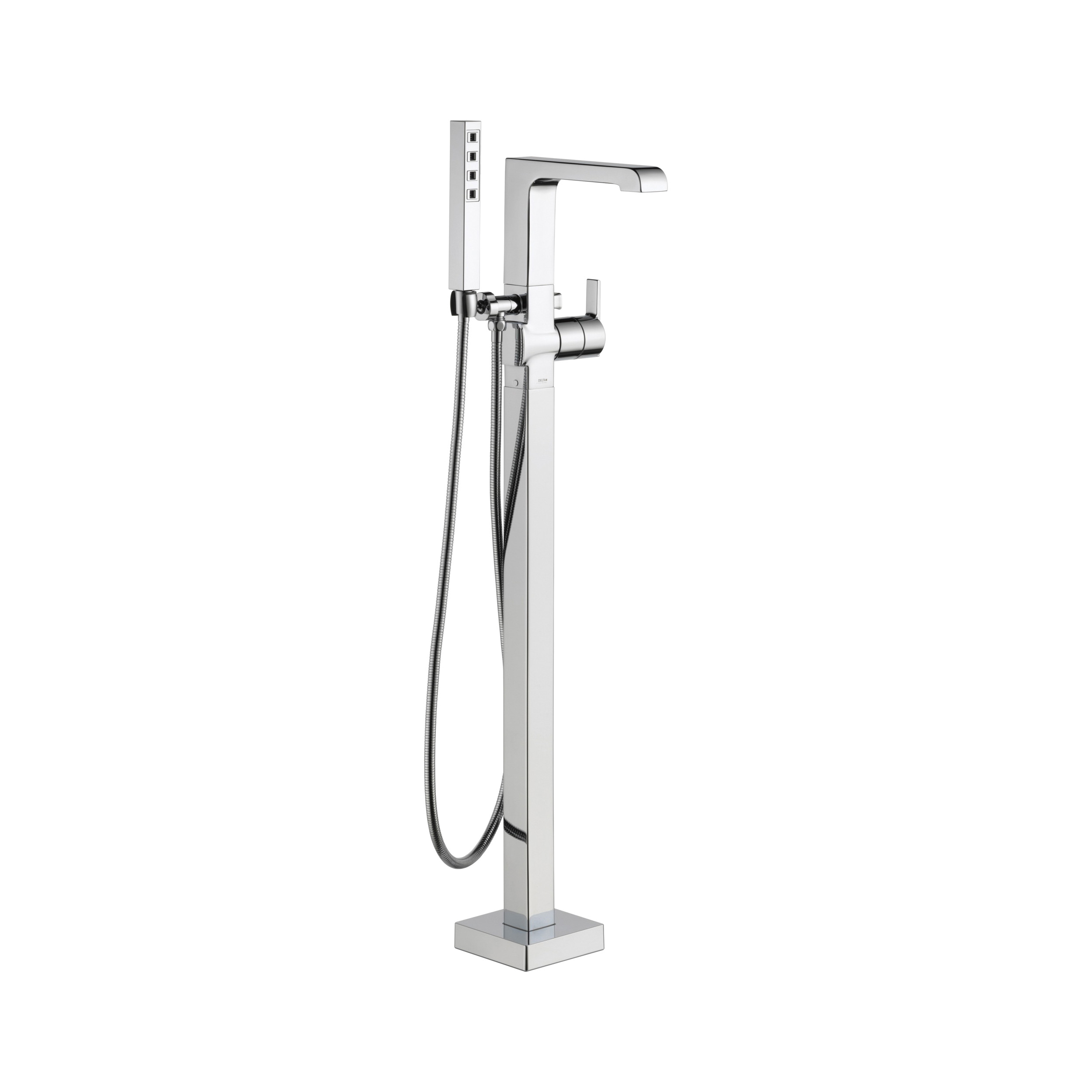 DELTA® T4767-FL Tub Filler, Ara®, 2 gpm Flow Rate, Polished Chrome, 1 Handles, Domestic, Commercial
