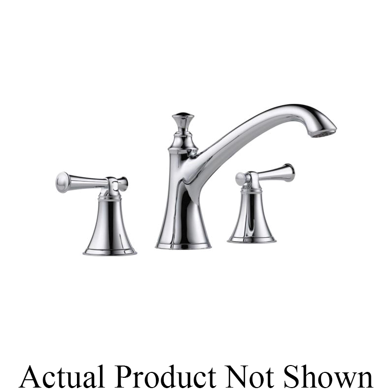 Brizo® T67305-PCLHP Roman Tub Trim, Baliza®, 18.5 gpm Flow Rate, 10 to 16 in Center, Polished Chrome, 2 Handles, Function: Traditional, Domestic