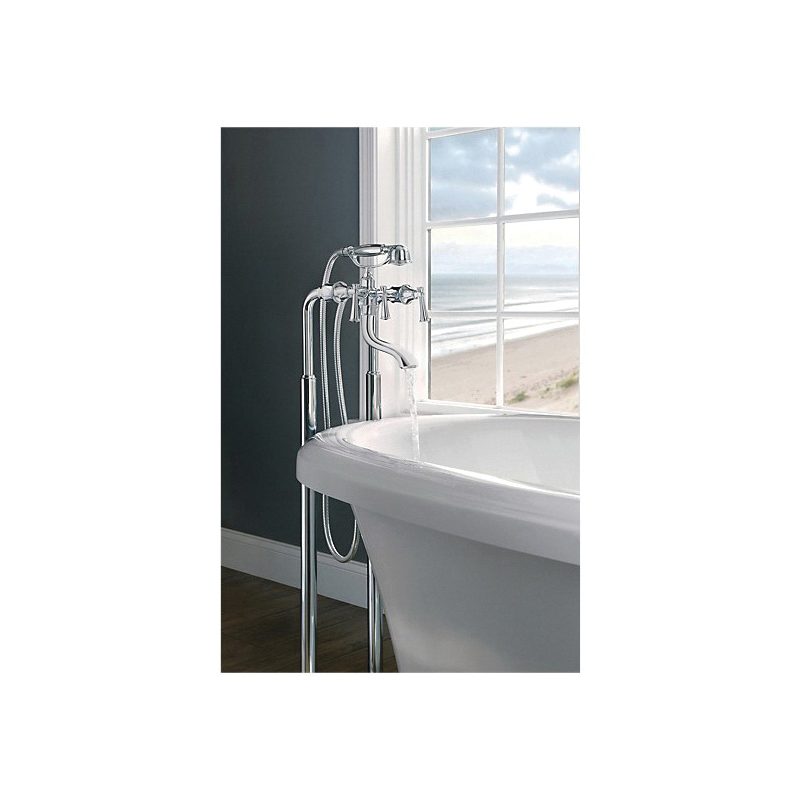 Brizo® T70210-PCLHP Free Standing Tub Filler Body Assembly Trim, Tresa®, 8 in Center, Polished Chrome, Domestic