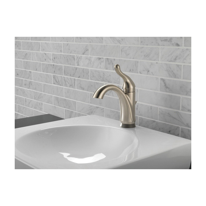 DELTA® 15960T-SS-DST Talbott™ Lavatory Faucet, Commercial, 1.2 gpm Flow Rate, 5 in H Spout, 1 Handles, Pop-Up Drain, 1 Faucet Holes, Brilliance® Stainless Steel, Function: Traditional